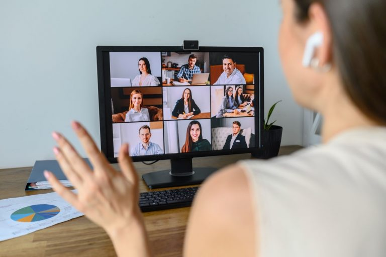 A group of people on a zoom call
