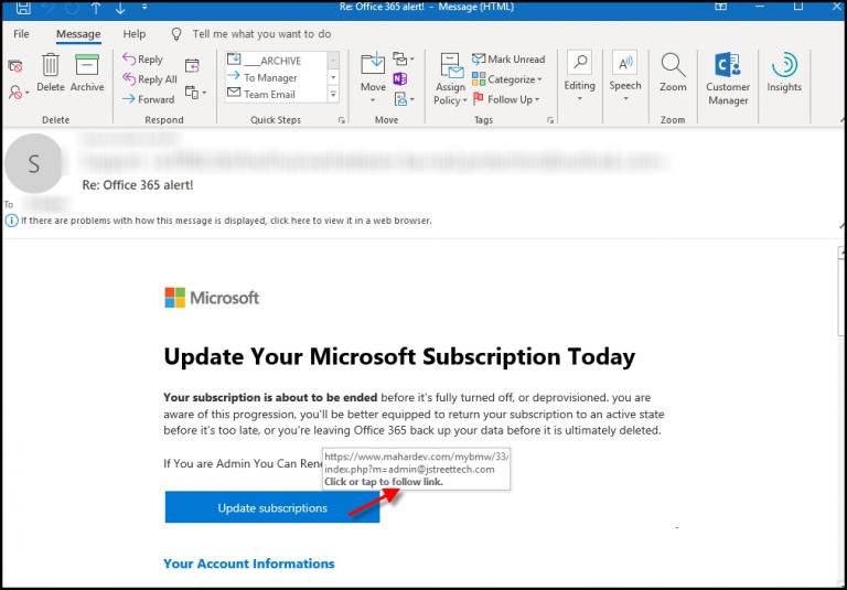 False Microsoft Emails - J Street Technology - Custom Web Application - 98004