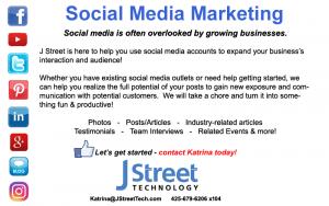 Social Media Marketing - J Street Technology - Software Development - 98004