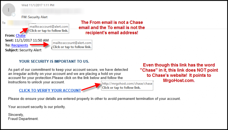 New Phishing Scam - Beware!